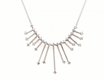 White gold K18 neclace with diamonds 0.71ct.