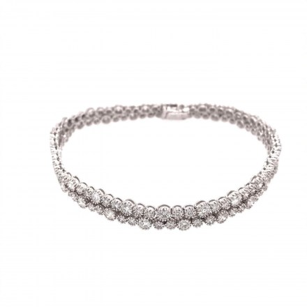 White gold K18 bracelet with diamonds 4.75ct.