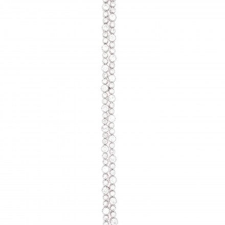 White gold K18 platinum plated bracelet with diamonds 4.75ct.