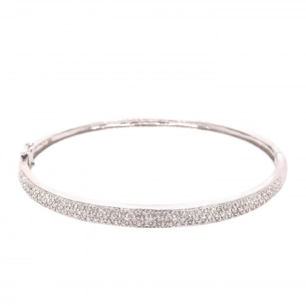 White gold K18 bracelet with diamonds 1.02ct.