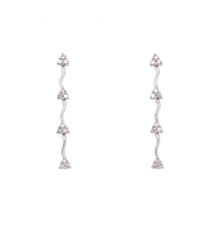 White gold K18 earrings with diamonds 0.28ct.