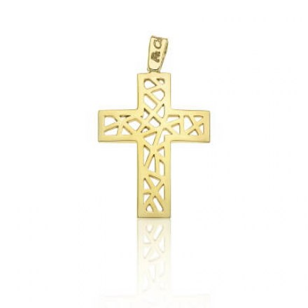Gold K14 cross