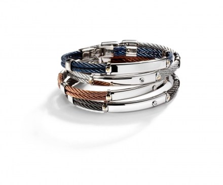 Bjoy Steel and Gold Bracelet by Salvatore Bersani