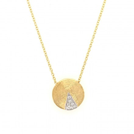 Gold 18kt necklace with diamonds