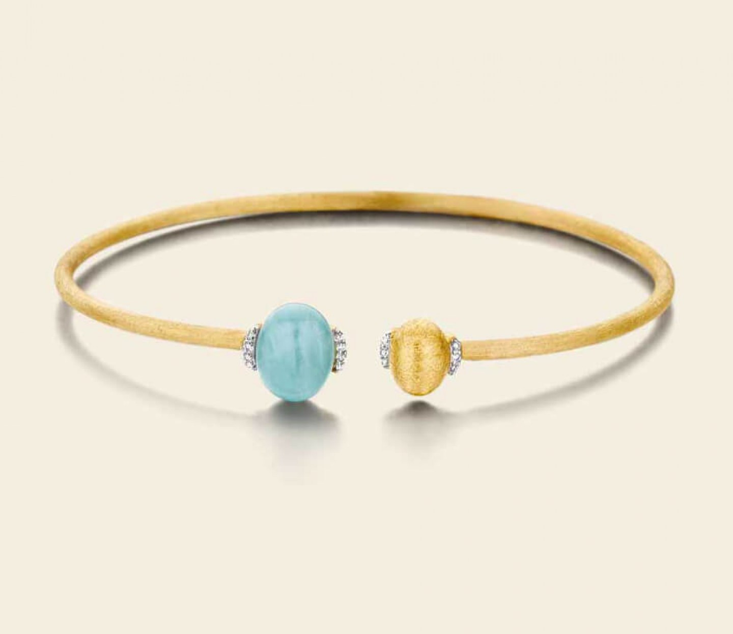 Nanis, Dancing in the Rain Bracelet in yellow gold K18 with diamonds and precious stones, NaniB1