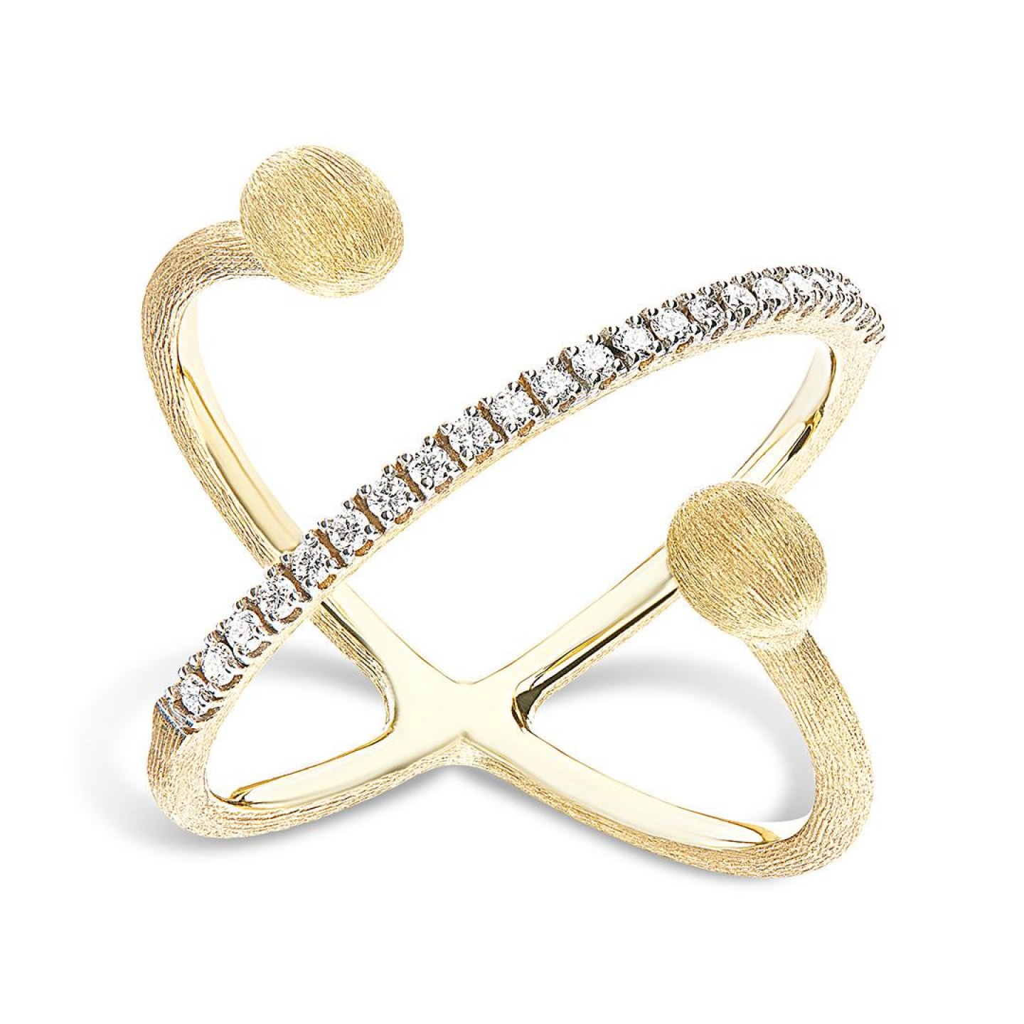 Nanis, Dancing in the Rain rings in yellow gold K18 with diamonds, NaniR4
