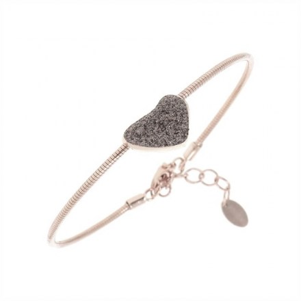 DNA Spring Heart bracelet with Polvere di Sogni Sterling Silver with an 18K Rose Gold Vermeil and Antelope Dust