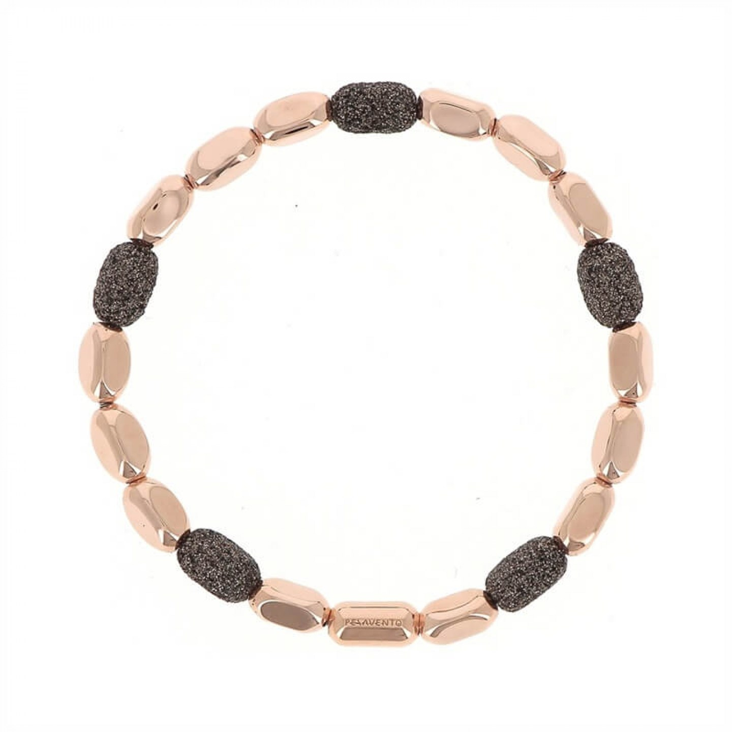 Polvere Chain bracelet Sterling Silver with an 18K Rose Gold Vermeil and Brown Dust