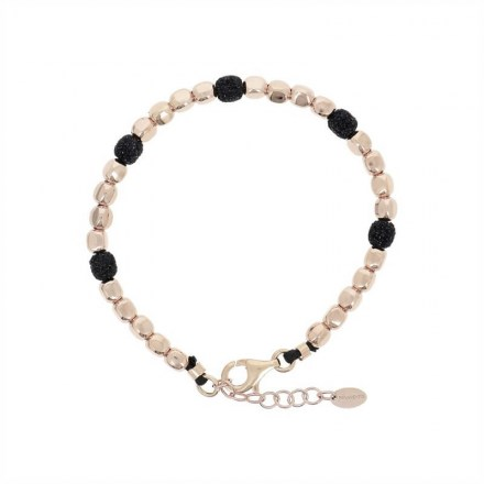 Polvere Bracelet Sterling Silver with an 18K Rose Gold Vermeil and Black Dust