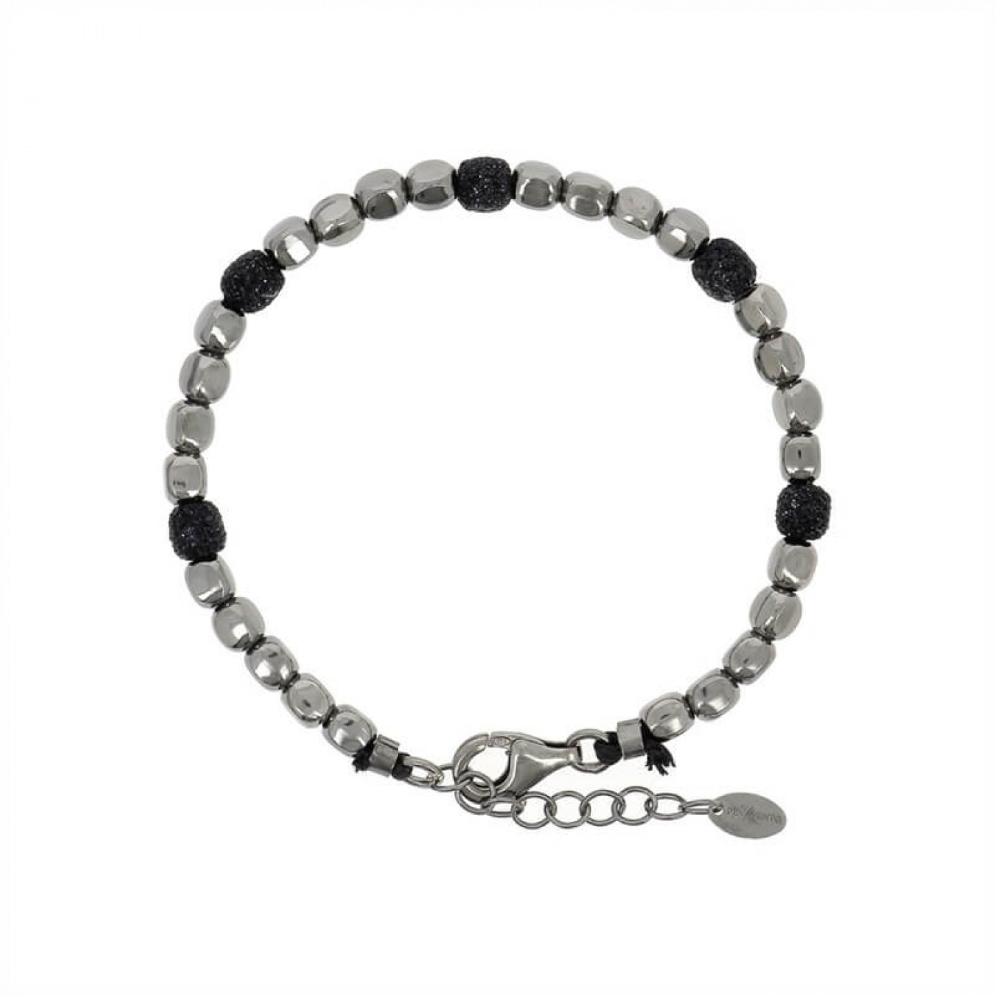 Polvere Bracelet Sterling Silver with Black Dust
