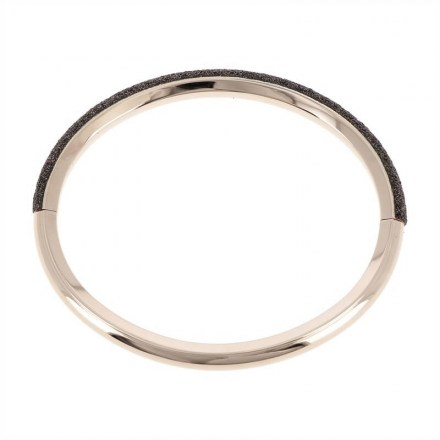 Polvere Modula bracelet Sterling Silver with an 18K Rose Gold Vermeil and Brown Dust