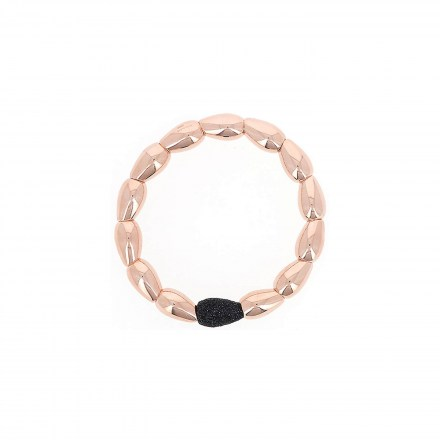 Polvere Seeds Bracelet Sterling Silver with an 18K Rose Gold Vermeil and Black Dust